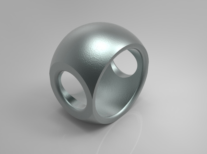 RING SPHERE 1 SIZE 9 3d printed
