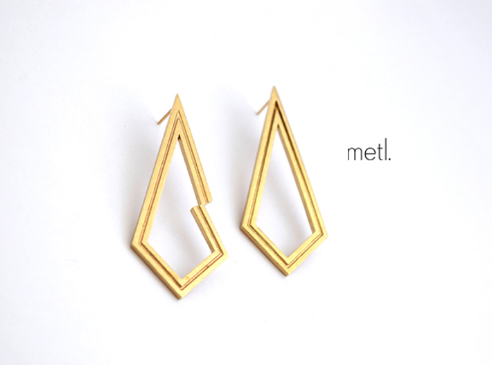 Perfectly Imperfect Earrings 3d printed
