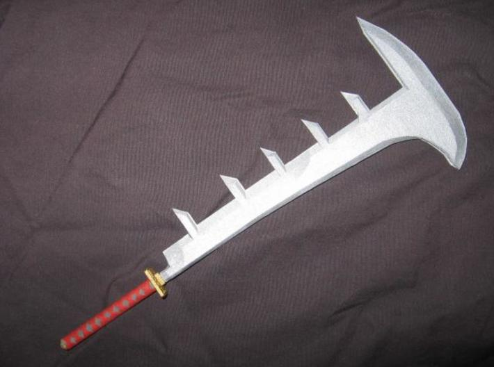Katana8 3d printed A painted model of the actual sword