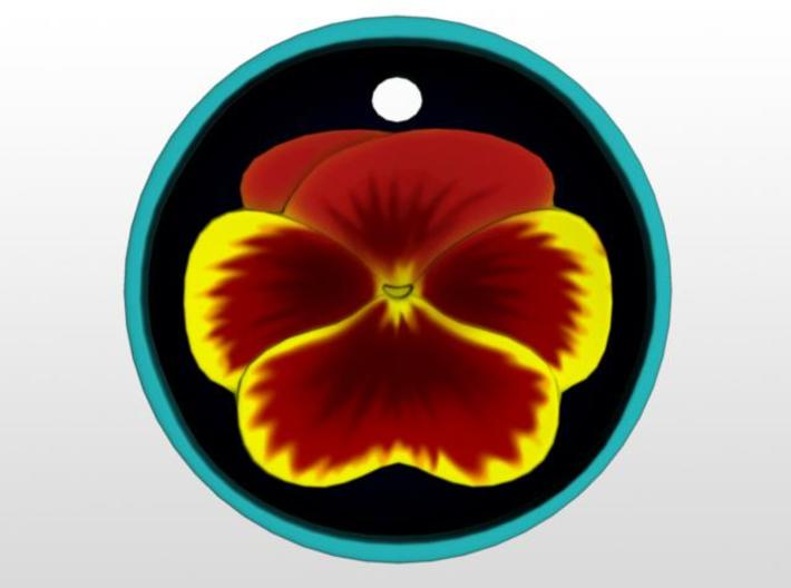 Pansy Pendant 3d printed Front