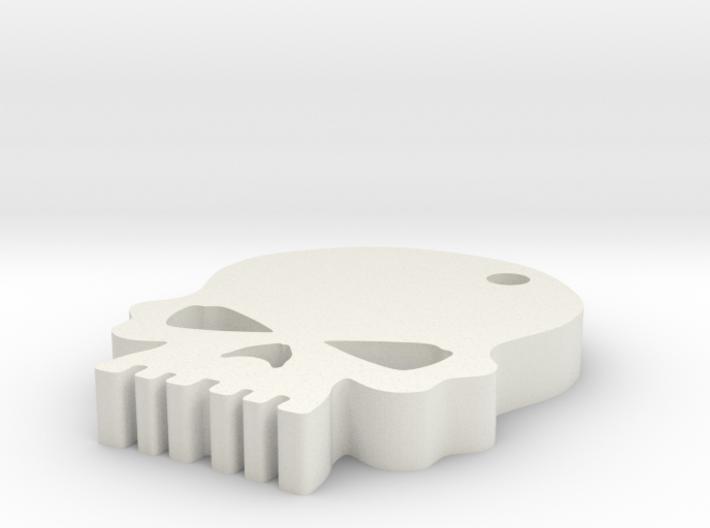 Skull keychain 3d printed