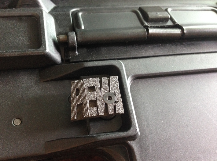 PEW! Mag Release Catch for M4 & M16 Series AEGs 3d printed Matte Black Steel