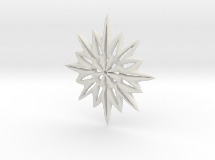 Snowflake Necklace 3d printed
