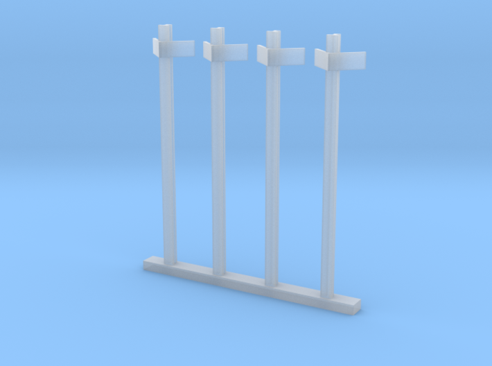 HO kM Posts - Old Rail Type 3d printed