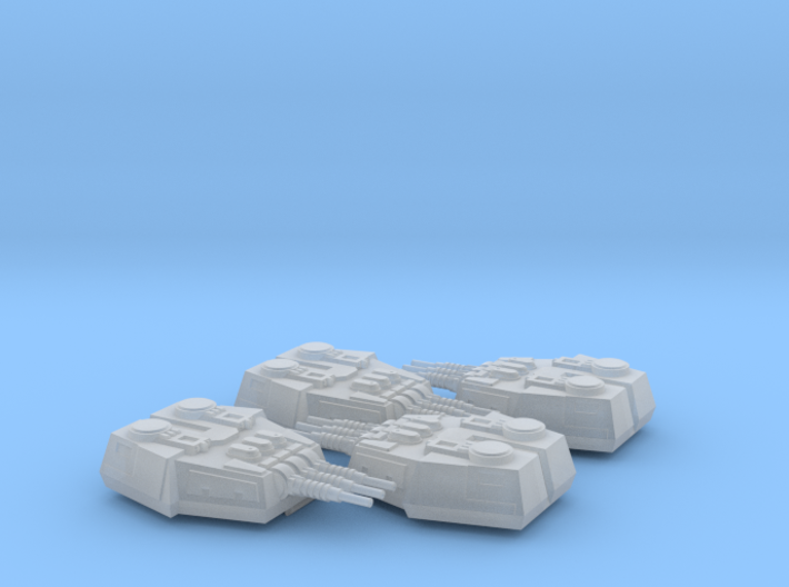 1/270 Large Turrets (4) 3d printed