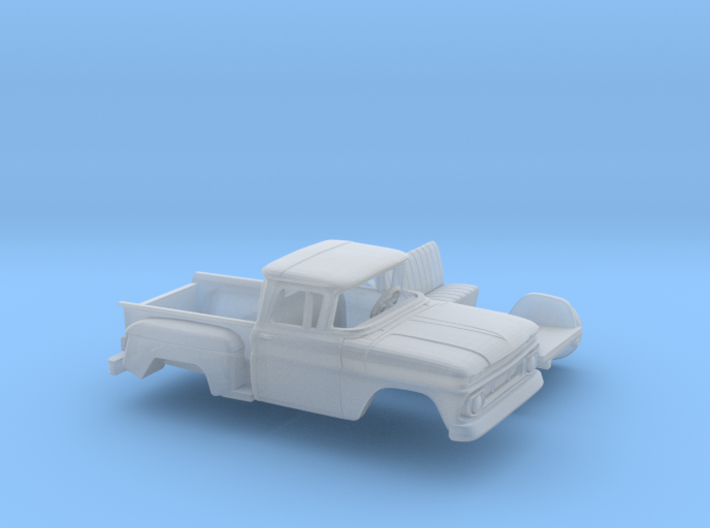 1/160 1962 Chevrolet C-10 Stepside Small Rear Wind 3d printed