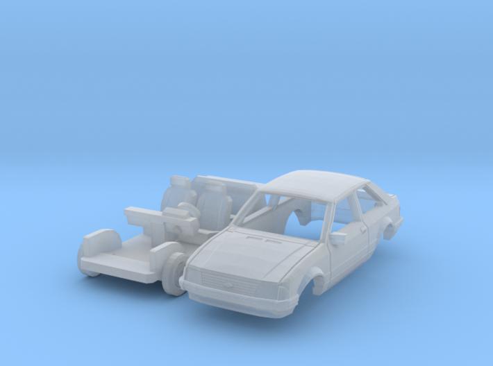 Ford Escort 3-door (TT 1:120) 3d printed