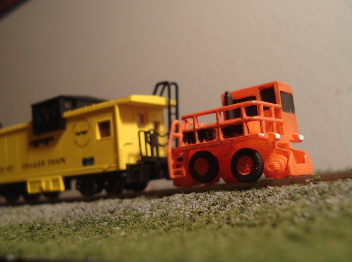 RailKing RK275 Rail Car Mover - N Scale 3d printed Painting and Photo by @intermodalman123