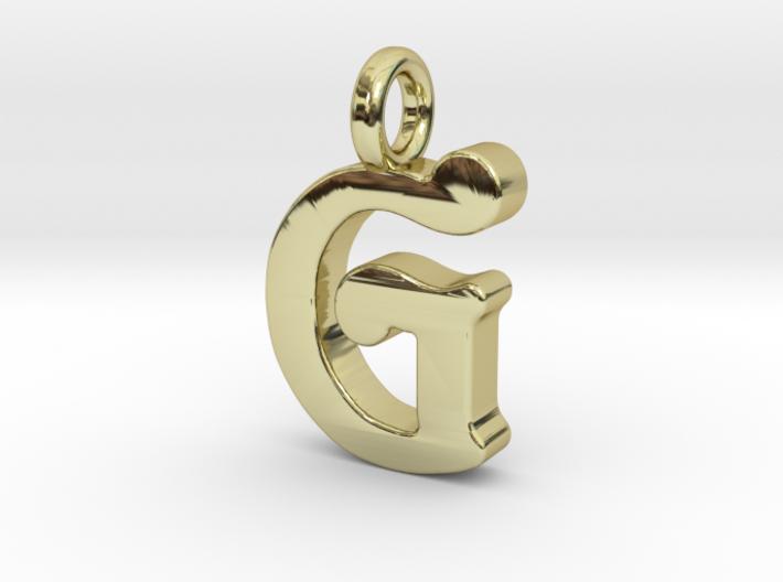G - Pendant - 2mm thk. 3d printed