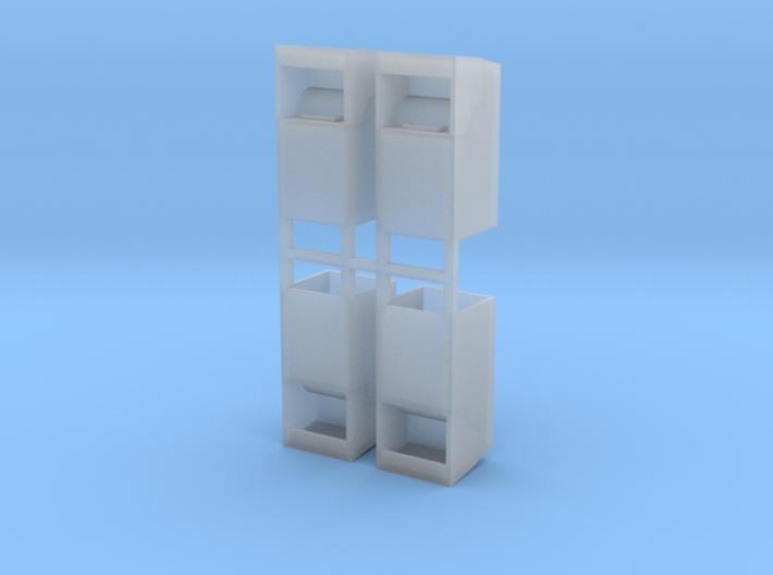 Altkleidercontainer 4er Set 1:120 TT 3d printed