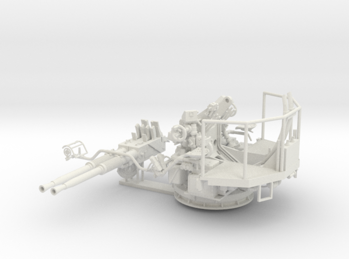 1/35 40mm Bofors Twin Mount USN WWII ships 3d printed