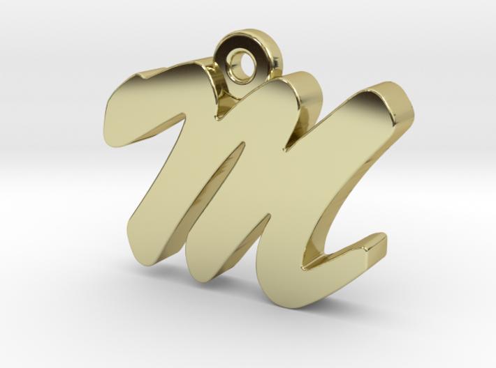 M - Pendant - 2mm thk. 3d printed