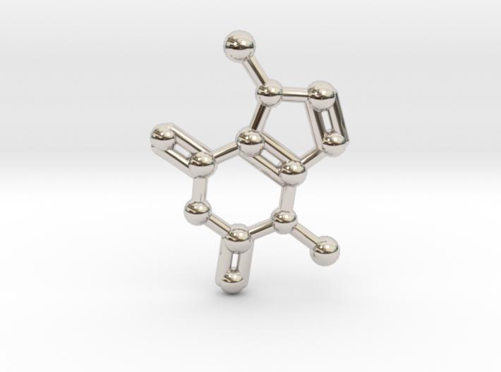 Theobromine (Chocolate) Molecule Necklace / Keycha 3d printed