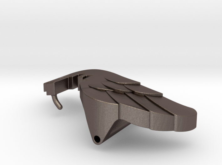 Wings Over the City Belt Buckle 3d printed