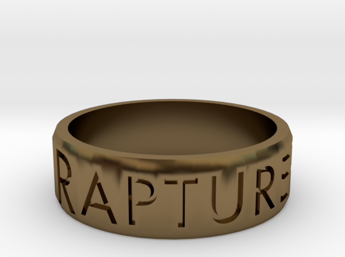 Rapture Ready Ring 3d printed