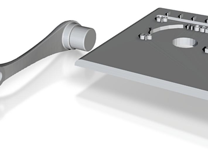H9 Trim Plate Handle Knob 3d printed