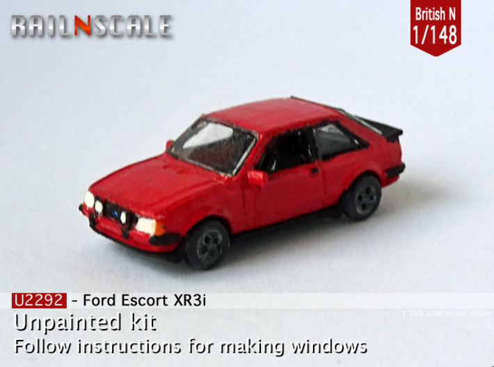 Ford Escort XR3i (British N 1:148) 3d printed