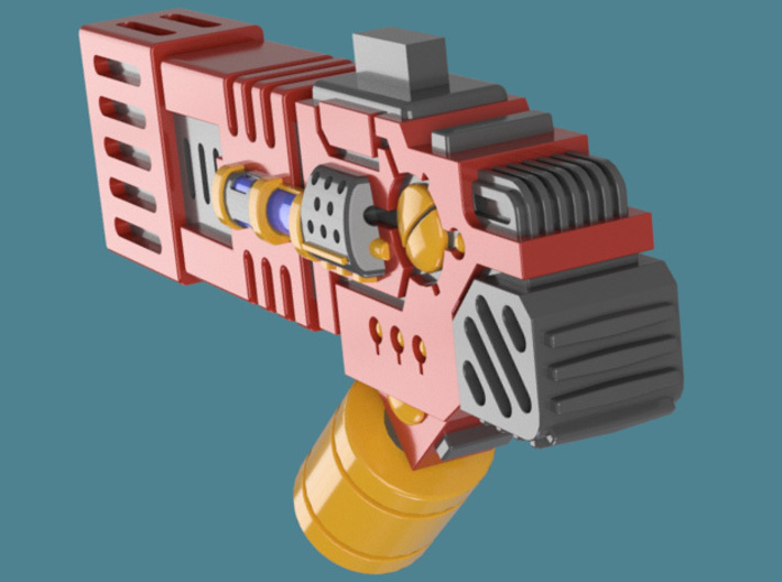 Fusion Blaster M1 bits, pack of 4/8/12/16 3d printed A single weapon render 4