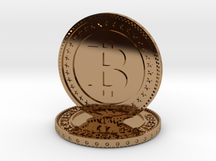 Sculpture bitcoin 3d printed