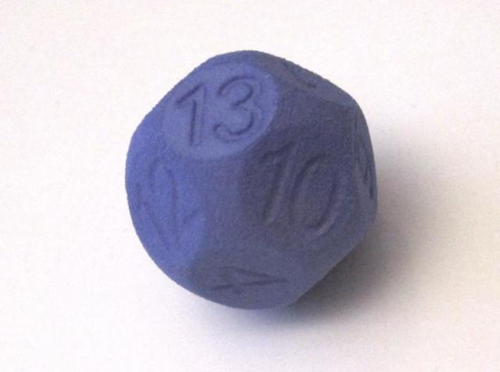 D14 Sphere Dice 3d printed Indigo Strong & Flexible