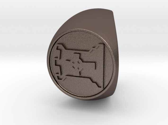 Custom Signet Ring 67 3d printed