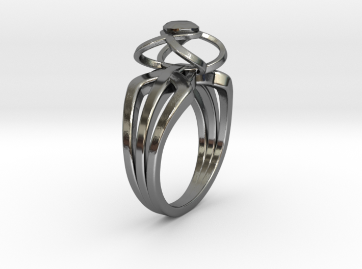 3-2 Enneper Curve Triple Ring (001) 3d printed 3-2 Enneper Curve Triple Ring (001)