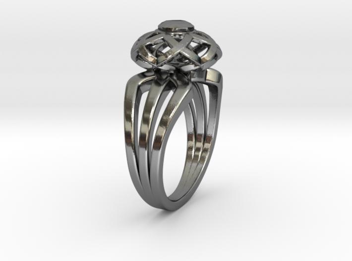 3-2 Enneper Curve Triple Ring (003) 3d printed
