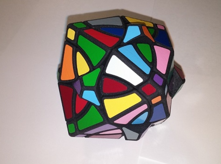 curvy dino rhombic dodecahedron 3d printed