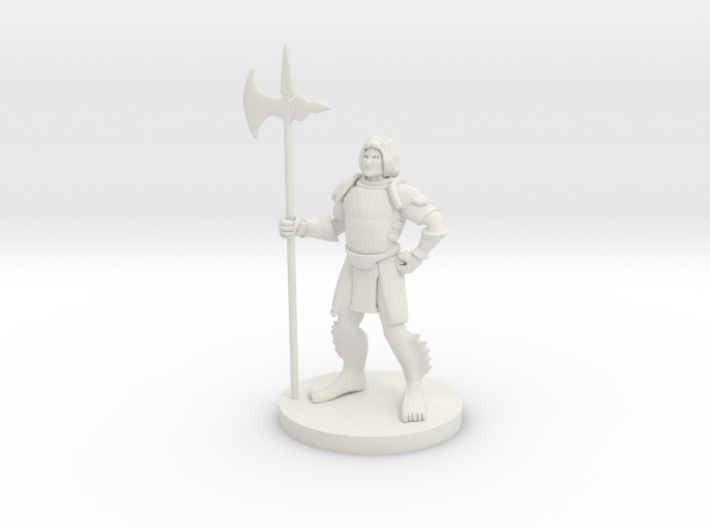Triton with Halberd 3d printed