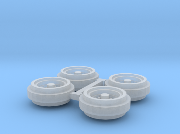 1/64 80s Steel Rims (1 Set) 3d printed