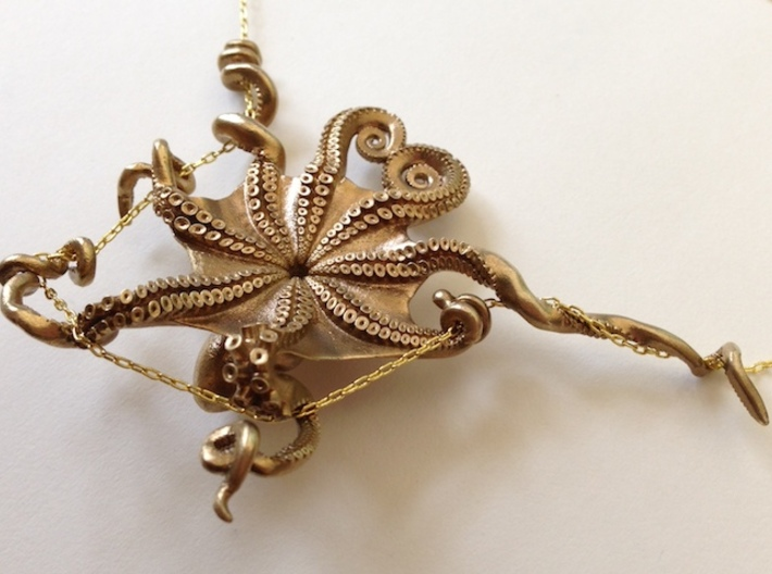 Octopus Pendant 3d printed (chain not included)