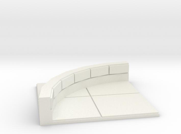 2x2 for 1.25 inch grid: Quarter Round corner 3d printed