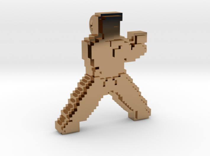 Karateka pendant 3d printed
