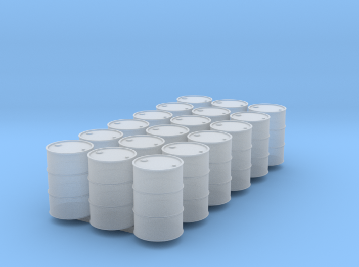 18 HO scale oil drums 3d printed