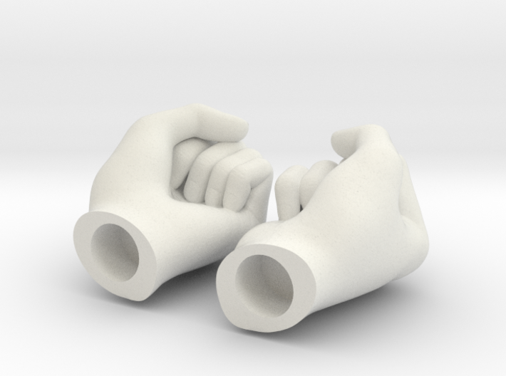 Fists 1:6 scale 3d printed