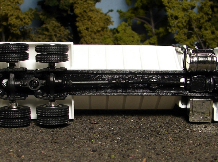 """1/64 """"S"""" Scale Cutom Tandem Axle SpecCast Truck Fr 3d printed"""