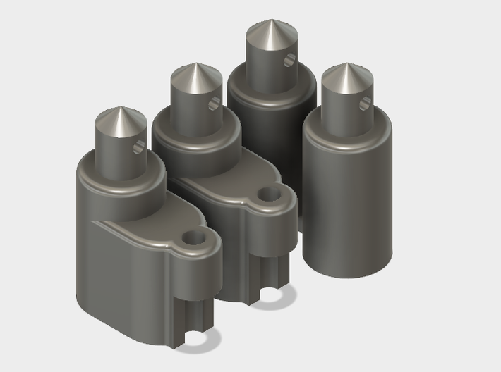 Rounded Battery Posts with Antenna Mounts 3d printed