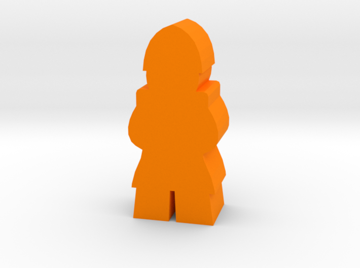 Game Piece, Medieval Soldier, standing 3d printed
