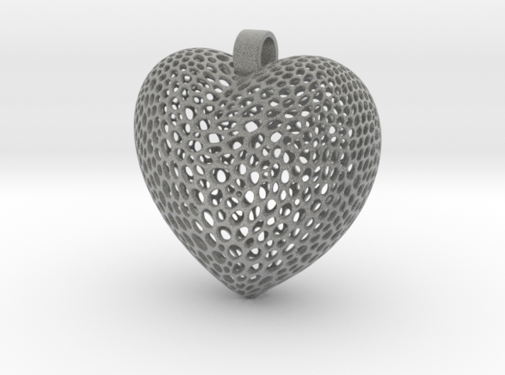 Pendant for Love and Heart 3d printed
