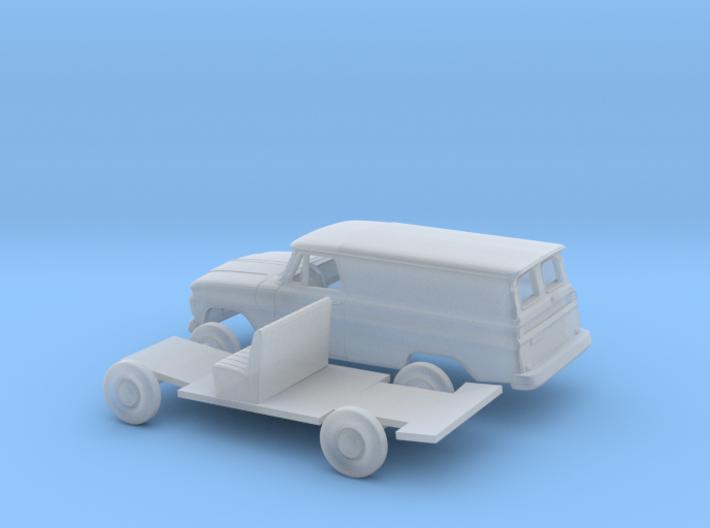 1/87 1963-66 Chevrolet Panel Van Split Door Kit 3d printed