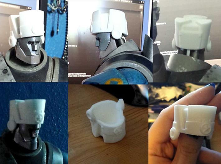 U-clank-a (designed to fit head of 3A Robot Heavy) 3d printed