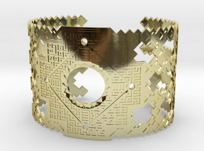 Inca Cross Wide Cuff Bracelet 3d printed