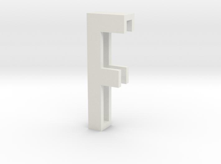 Choker Slide Letters (4cm) - Letter F 3d printed