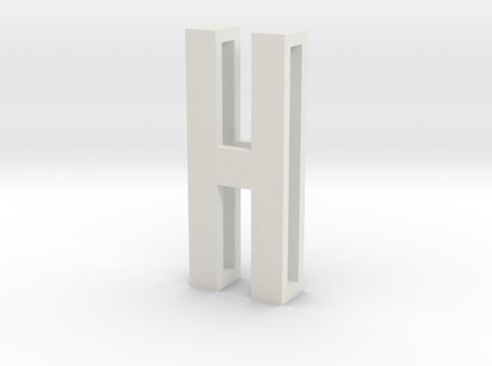 Choker Slide Letters (4cm) - Letter H 3d printed