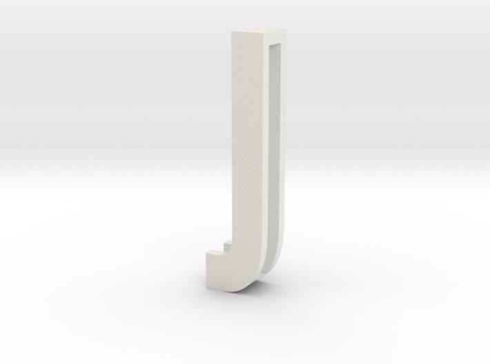 Choker Slide Letters (4cm) - Letter J 3d printed