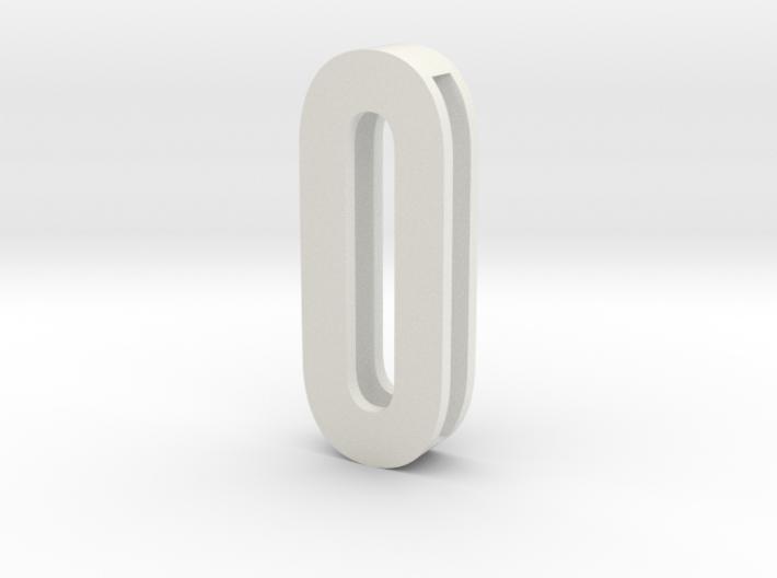 Choker Slide Letters (4cm) - Letter O or Number 0 3d printed