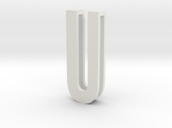 Choker Slide Letters (4cm) - Letter U 3d printed