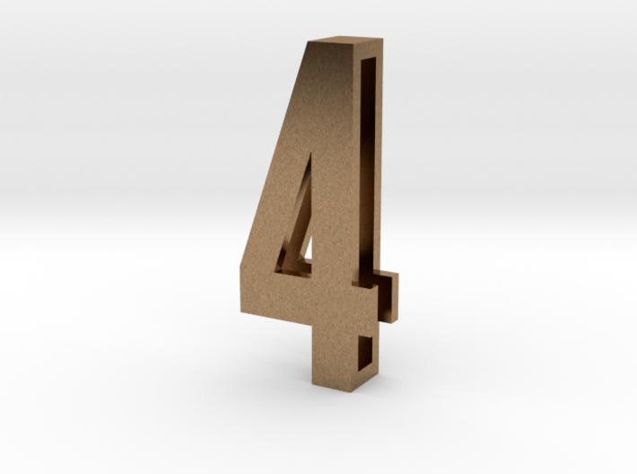 Choker Slide Letters (4cm) - Number 4 3d printed