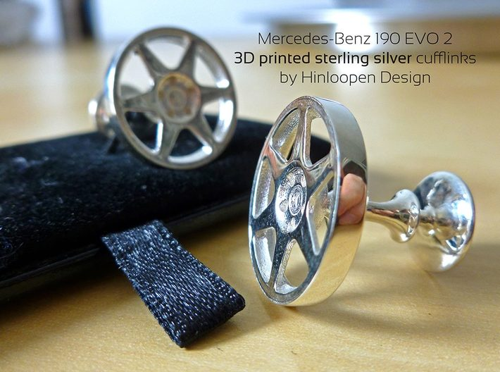 Mercedes-Benz 190 Evo Cufflinks 3d printed
