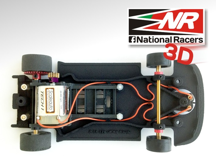 3D Chassis - Ninco Ascari KZ1 (AW/SW) 3d printed